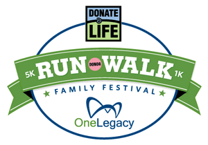 Donate Life Run/Walk Family Festival One Legacy logo